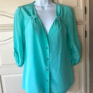Antonio Milani women's size small silk blouse